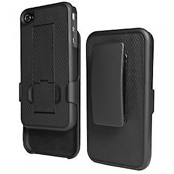 APPLE IPHONE 4 PUREGEAR HOLSTER SHIELD COMBO - BLACK