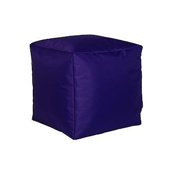 Seat cube stool stool violet L nylon size: 40 x 40 x 40 cm