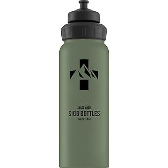 Sigg Alu Mountain Leaf Green Touch Non-insulated Water Bottle (1L) -