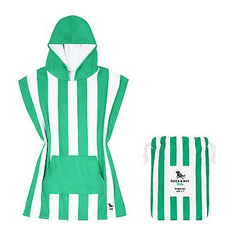 Kids poncho - quick dry hooded towel - cancun green