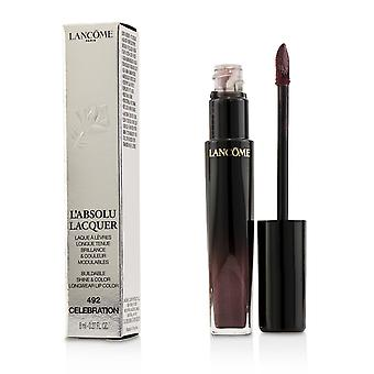 L'absolu lacquer buildable shine & color longwear lip color # 492 celebration 221413 8ml/0.27oz