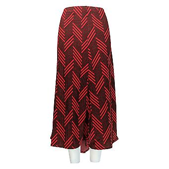 N Touch Plus Skirt Angled Stripes Jacquared Skirt Black / Red
