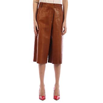 Arma 006l20106002pecan Women's Brown Leather Shorts