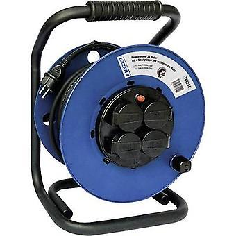 Kunzer 7KT254 Cable reel 25.00 m Black PG plug