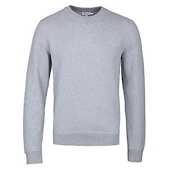 Sunspel Grey Melange Loopback Sweatshirt
