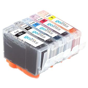 1 5 mustekasettia Canon SGI-5:n ja CLI-8:n yhteensopivan/muun kuin OEM-laitevalmistajan tilalle Go Inksistä (5 mustetta)