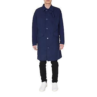 Aspesi Ci58g24901096 Men's Blue Cotton Coat