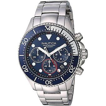 Nautica Watch NAPWPC006 - Plated Stainless Steel Gents Quartz Chronograph