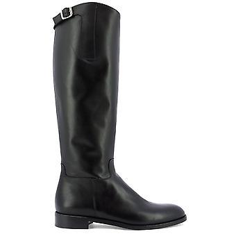 Guglielmo Rotta 3957ccalfnero Women's Black Leather Boots
