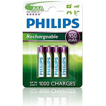 Batterie rechargeable AAA 950 mAh 4-pack