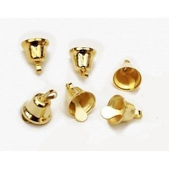 100 Gold 8mm Liberty Jingle Bells for Crafts
