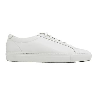 Loake Sprint White Soft Calf Leather Mens Lace Up Trainers
