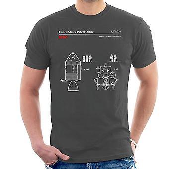 NASA Apollo CSM und LM Blueprint Herren T-Shirt