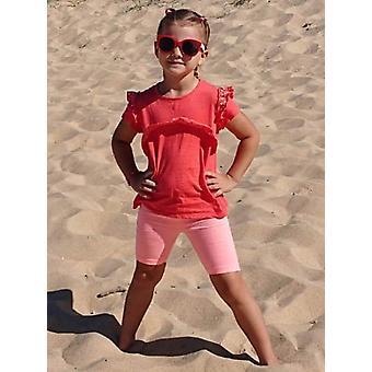 Mamino  Girl  Patricia   Coral   Bermuda Leggings