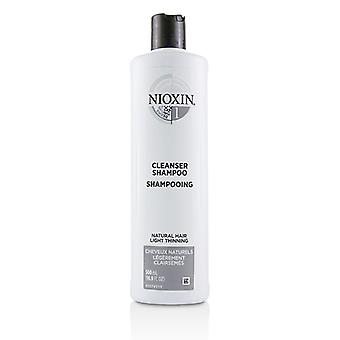 Nioxin Derma purificando System 1 Cleanser Shampoo (cabelo Natural, luz desbaste) 500ml/16,9 oz