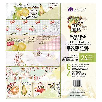 Prima Marketing Frugt Paradise 12x12 Tommer Papir Pad