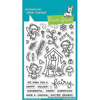 Lawn Fawn Clear Postzegels - Frosty Fairy Friends