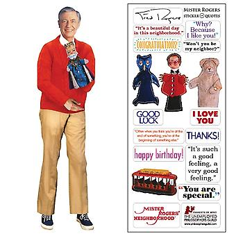 Stationery - Mister Rogers - Card and Sticker Sheet New 3885