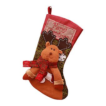 17Inch Christmas Stockings Elk Hanging Ornament