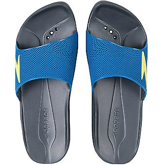 Speedo Mens Atami II Max Slip On Summer Water Beach Flip Flops Sliders - grau