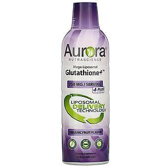 Aurora Nutrascience, Mega-Liposomal Glutathione+, Plus Vitamin C, Organic Fruit
