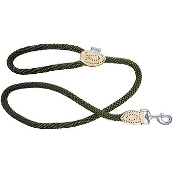 Dog & Co Supersoft Rope Trigger Lead - Groen - 14mm x 48 inch