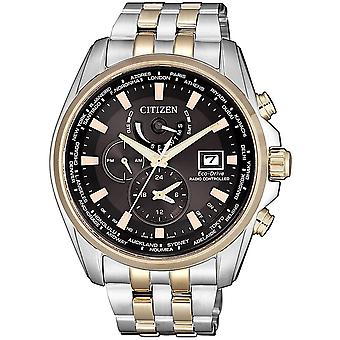 Citizen Watches At9038-53e Mens Eco-drive Radio Controlled Two Tone Stainless Steel Watch