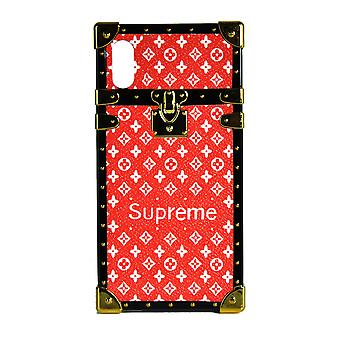 Phone Case Eye-Trunk Monogram For iPhone XR (Red With Logo)