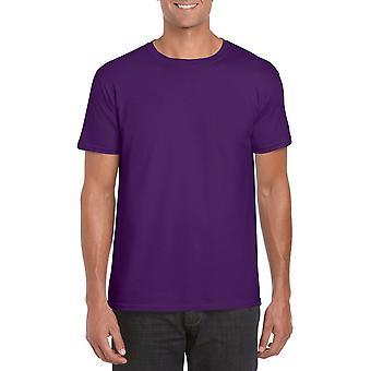 GILDAN G64000 Softstyle Men's T-Shirt in Purple