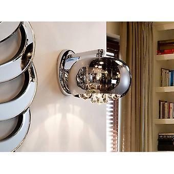 Schuller Argos - Croma lampada a parete di cristallo, specchio, G9