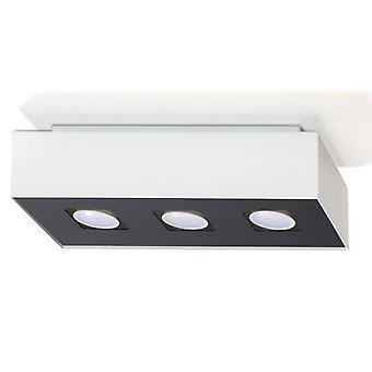 Sollux MONO - 3 luz de techo de descarga ligera blanca y negra, GU10