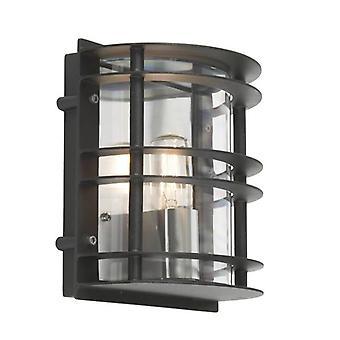 1 Light Outdoor Wall Light Black IP55, E27