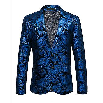 Men's Floral Dress Suit Luxury Embroidered Wedding Blazer Dinner Tuxedo Jacket For Party