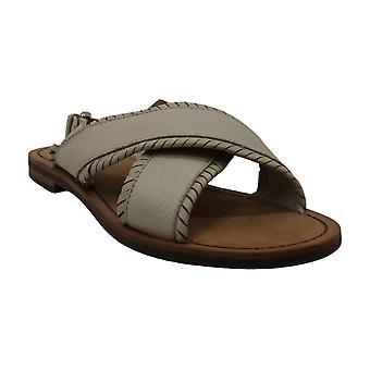 Frye Women's Shoes Robin FTHR Crisscross Leather Open Toe SlingBack Mules