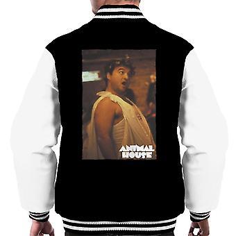 Animal House John Bluto Blutarsky klädd i Toga Men's Varsity Jacket