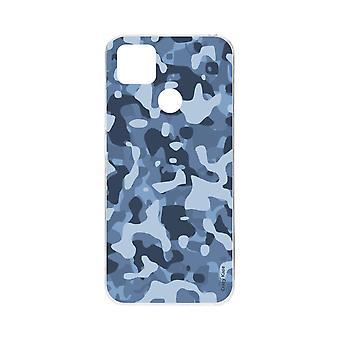 Runko Xiaomi Redmi 9c pehmeä sininen sotilaallinen naamiointi
