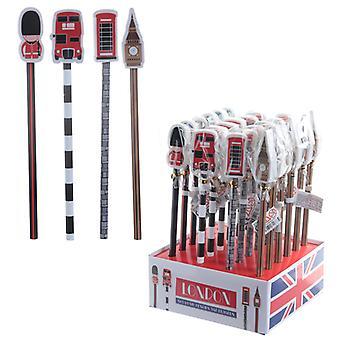 Nouveauté London Design Pencil et Eraser Set X 1 Pack