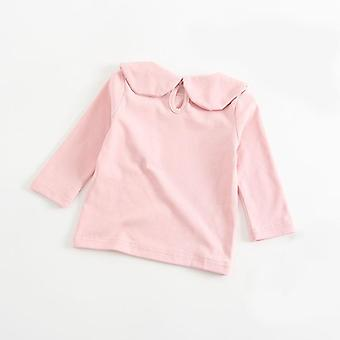 Lovely Cozy Petal Collar Shirt, Baby/girls Long Sleeve Cotton Blouse Printemps