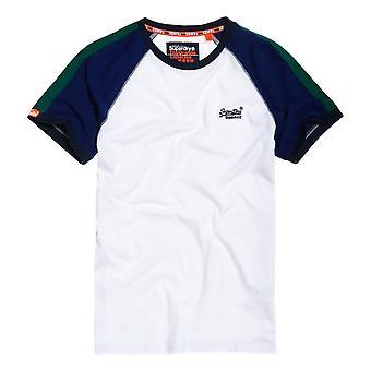 Superdry Orange Label Racer Cut & Sew Ringer T-Shirt - Optic