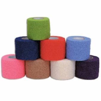 Andover Coated Products Cohesive Bandage CoFlex 3 Inch X 5 Yard Standard Compression Self-adherent Closure Teal / Blue / Wh, Case of 24