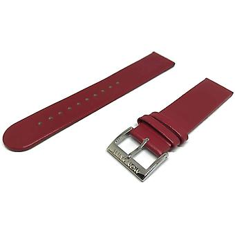 Authentic mondaine watch strap red calf leather 20mm fe1622030q