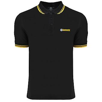 Lambretta Twin Tipped Polo - Black/Gold