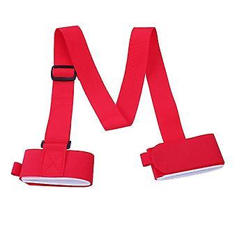 Saco de ombro de correias de skate ajustável, alça cinta snowboard gravata de ligação