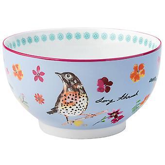 English Tableware Company Garden Birds Bowl Blue DD1920A12