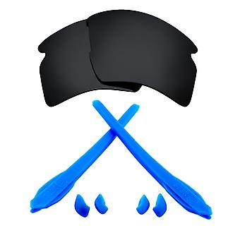 Polarizované náhradné šošovky Kit pre Oakley Flak 2,0 XL Čierna Modrá Anti-Scratch Anti-oslnenia UV400 od SeekOptics