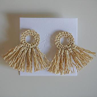 Handwoven Raffia Earring