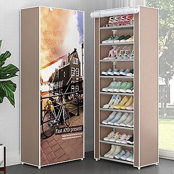 Multi Layers Shoe Rack, Nonwoven Fabric Storage Closet, Diy Assembled Stand