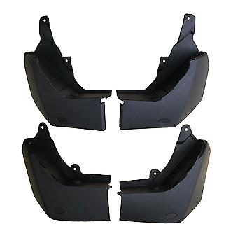 Set Of Front & Rear Mud Flaps, Mudflaps Kit For Land Rover Discovery Mk3, Mk4 (2004-2016)