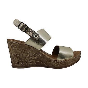 Bella Vita naisten Coritaly nahka avoin toe rento Platform sandaalit
