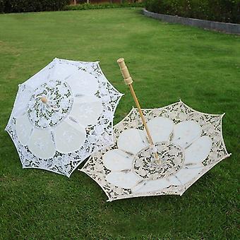 Vintage encaje paraguas sombrilla sol para la decoración de la boda fotografía sombrilla